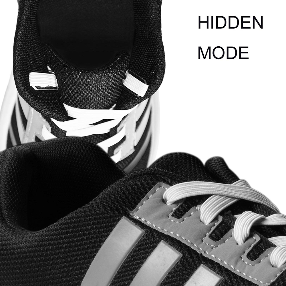 Hot Sale Elastic Hidden No Tie Shoelaces Used for All Sizes Shoes