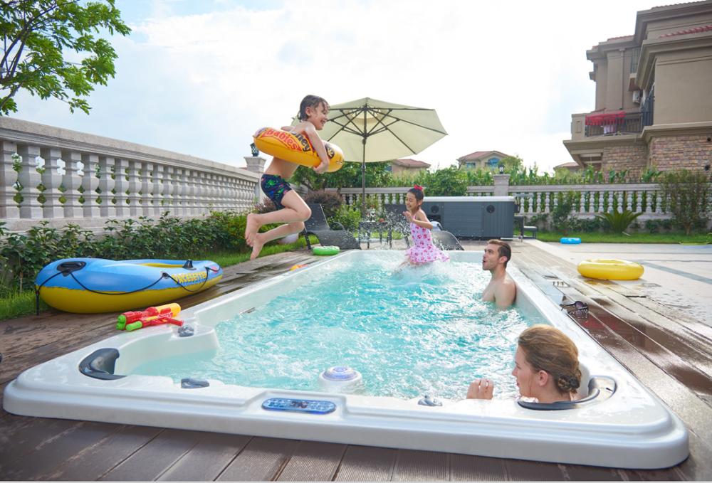 luxury balboa swimming pool hot tub combo outdoor used. Black Bedroom Furniture Sets. Home Design Ideas