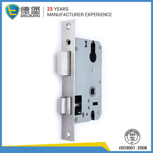 Closet dual key double latch door security lock cover faceplate