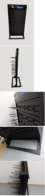 Zwart Slat Wall Vloer Display Stand Met Haken Buy Slat Wallslat
