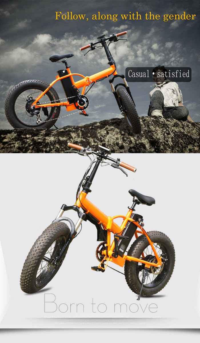 36V 250W 500W. electric bike/bicycle fat tyre ebike with foldable bike frame