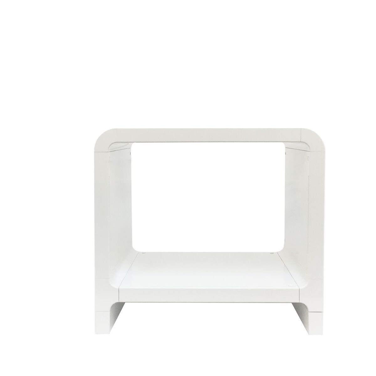 Indoor Multi-Function Accent Table Study Computer Home Office Desk Bedroom Living Room Modern Style End Table Sofa Side Table Coffee Table White side table