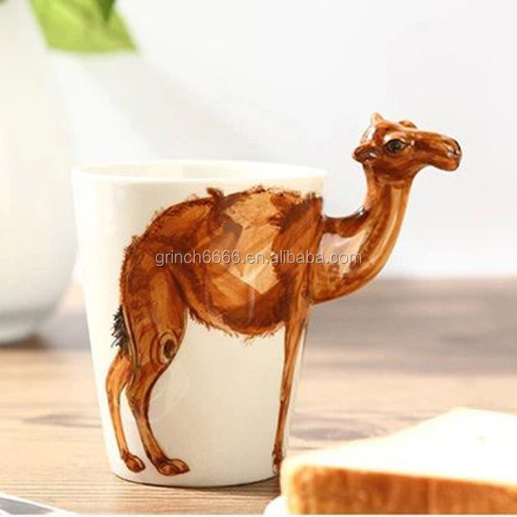 Unique Shaped Coffee Mugs artistic 3d ceramic cup,unique shape ceramic coffee mugs,fancy