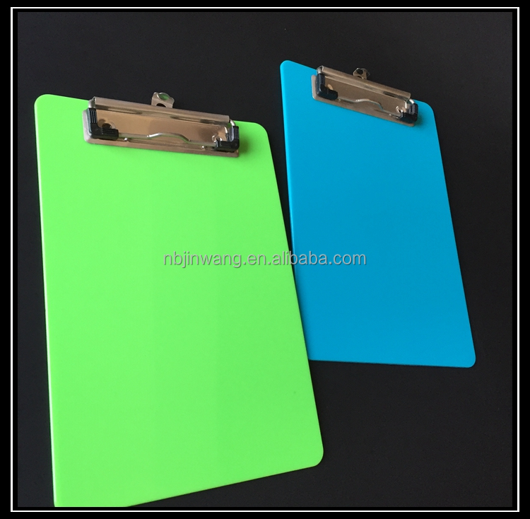 Customized Wholesale A5 Plastic Storage Clipboard With Metal Cilp