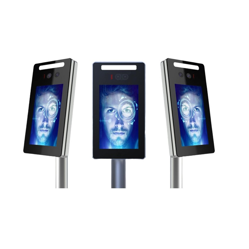 Support relay and wiegand 26bit face recognition camera turnstile door access system