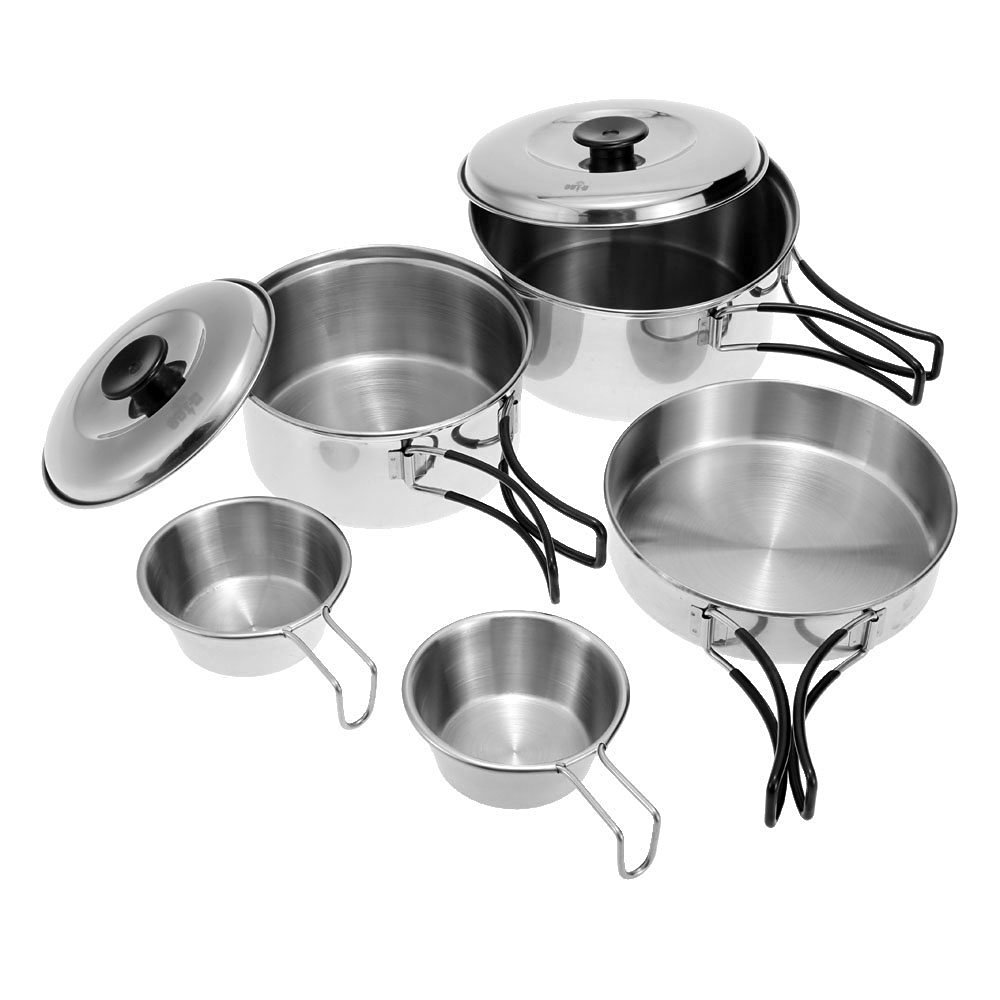 Camping Cooking Set Backpacking Portable Picnic Cookware Outdoor Hiking Pan Bowl
