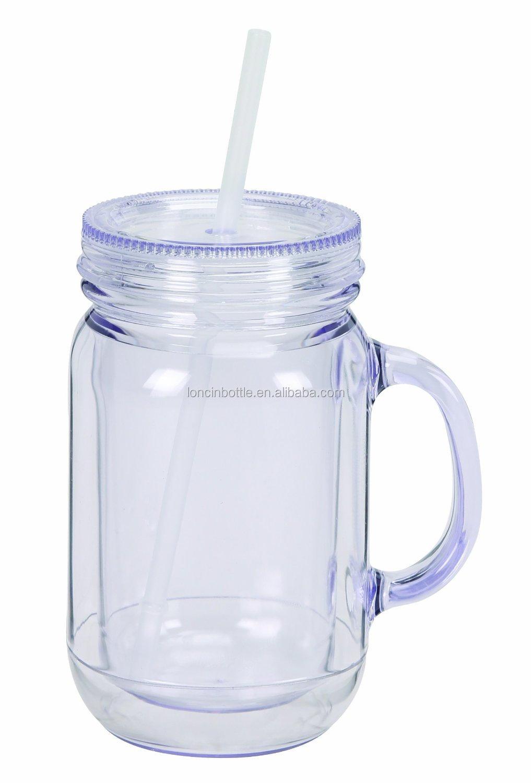 Acrylic Mason Jar Tumbler Mug Glass Mason Jars Storage