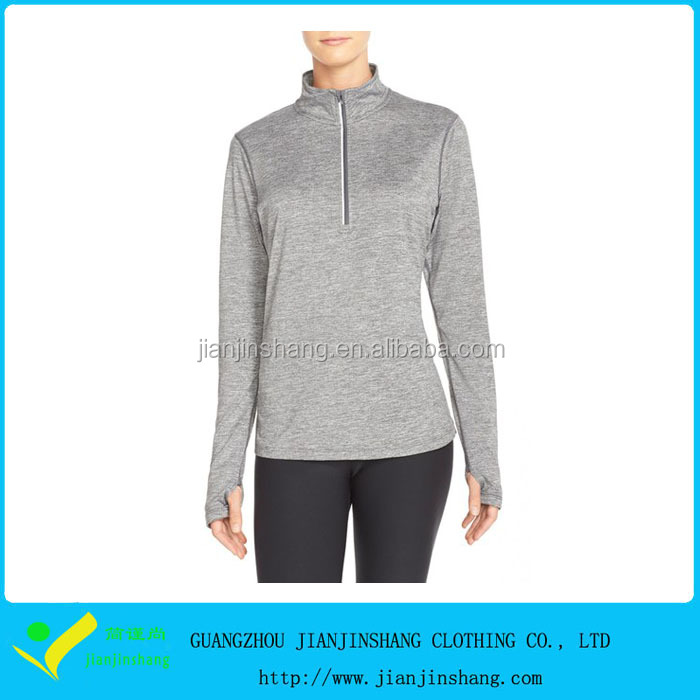 custom women's performance half zip top