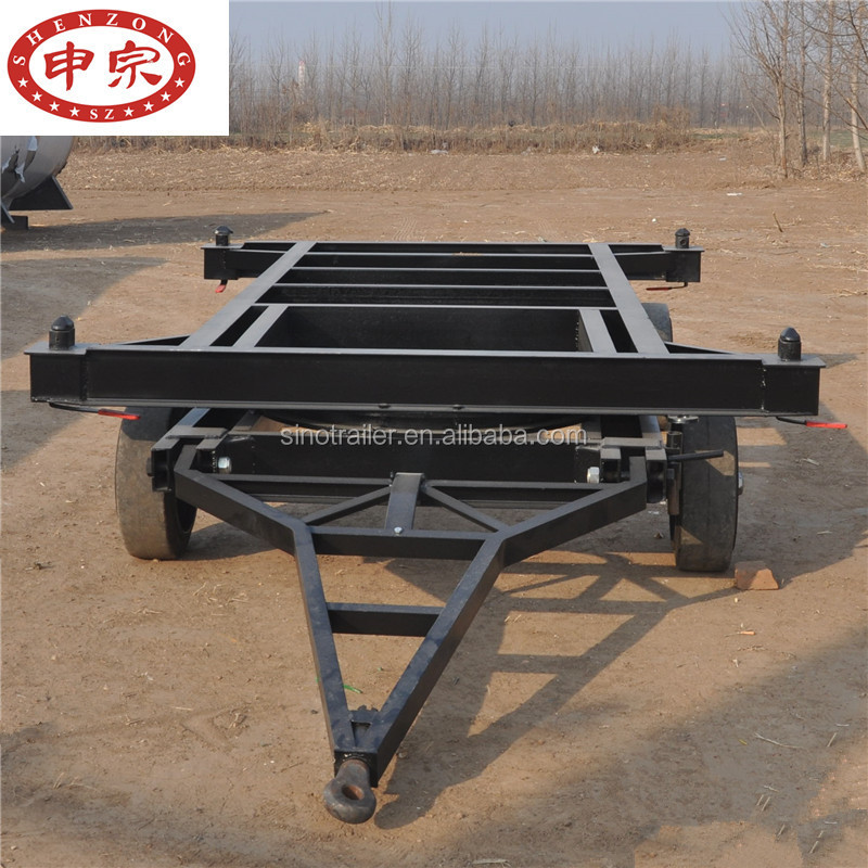 20ft container skeleton full low bed flatbed trailer chassis