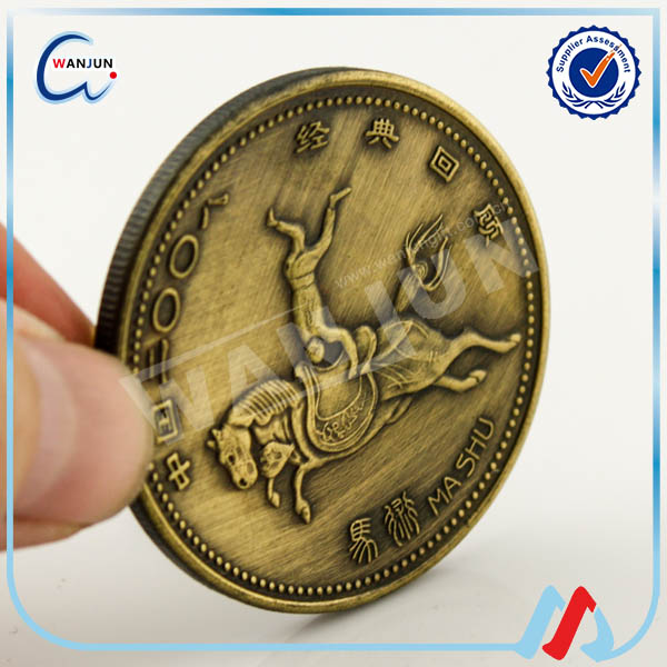 2016 high quality china made indian old antique coins price for sale/antique challenge coins
