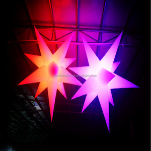 NEW Products !!Party/events decoration attractive color changing giant led inflatable star