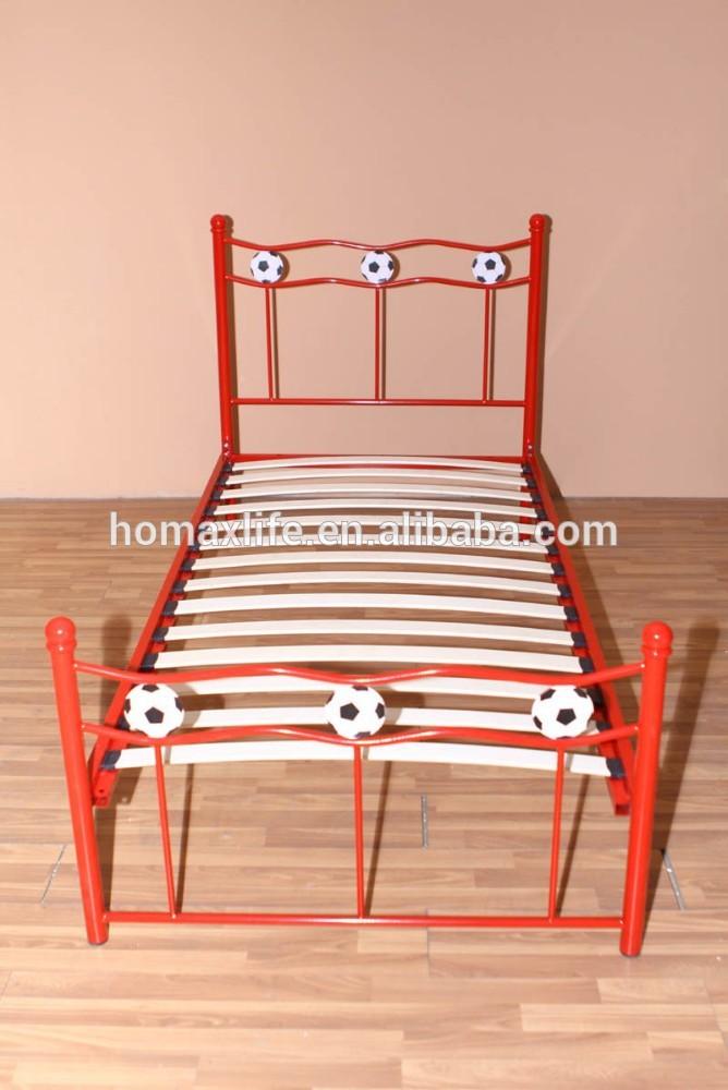 Niño cama muebles de metal de fútbol bd-hm05-r cama-Camas de metal ...