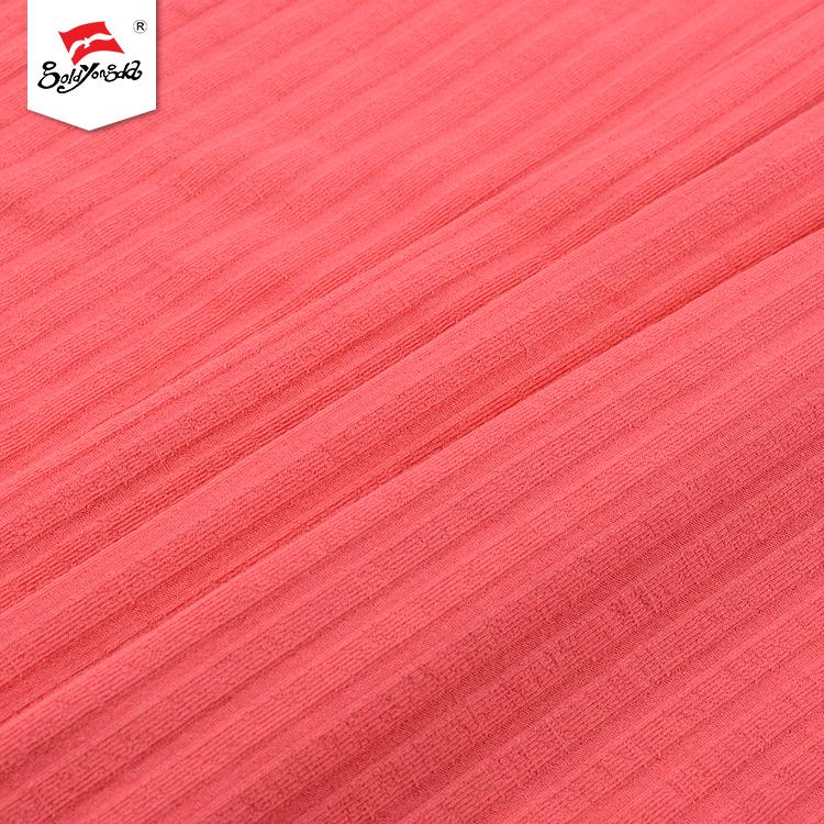 Super fastness factory price different design rib yarn dyed fabric for garment