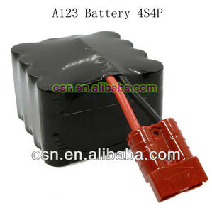 A123 lifepo4 battery pack 13.2v 9200mah 26650 4s4p