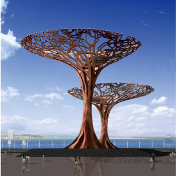 Popular New Corten Steel Tree Sculpture Design For Decoration