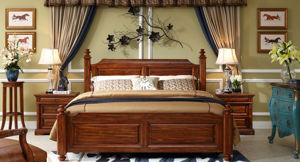 New American Style Solid Wood Bed King Size Bed Buy Solid Wood Bed American Style King Size
