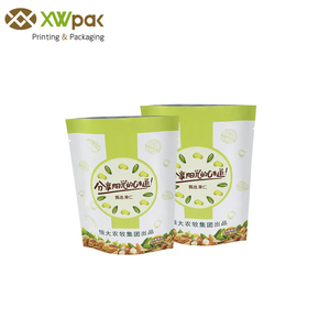 60g white kraft paper laminated dried peanuts packaging sachet with foil small sealed zipper lock stand nuts food bags