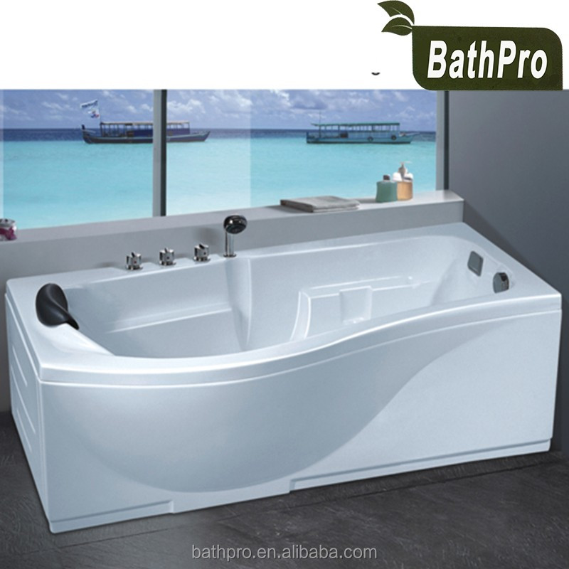 Corner Installation Indoor Hot Tub 1 Person Acrylic Massage Bathtub ...