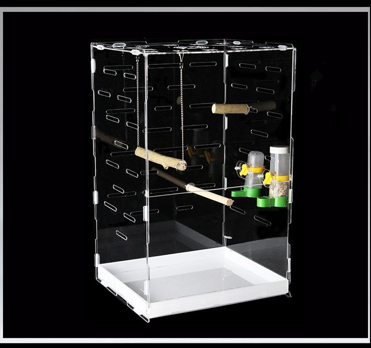 Custom Acrylic Bird Cage Sale Rectangle Clear Pet