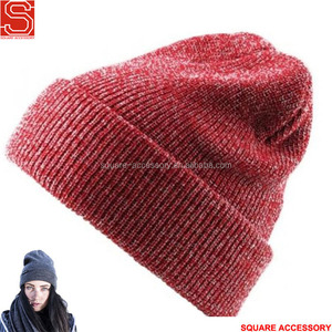 Promotion Cheap Acrylic Winter Warm Knitted Hat Custom Logo Ladies Knitted Hat