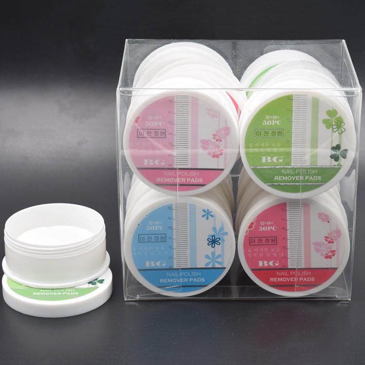 50pcs Fruit Scent Fragrance Acetone Free Nail Polish Remover Pads ...