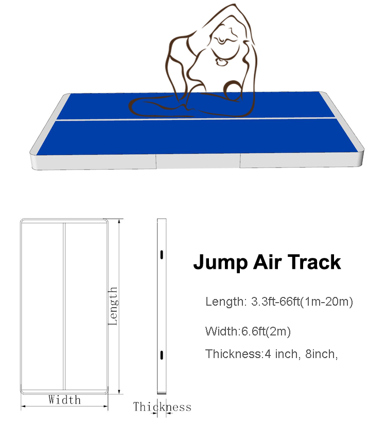 Inflatable air track gym used inflatable air tumble track for sale