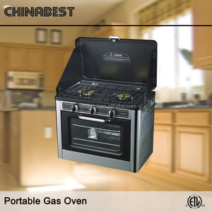 Double Glass Outdoor Portable Camping Gas Oven with Stove Combo CS-04