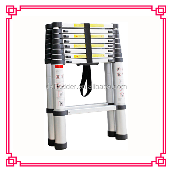 2 11steps aluminum telescopic stepladder double sided step ladder a type height 38