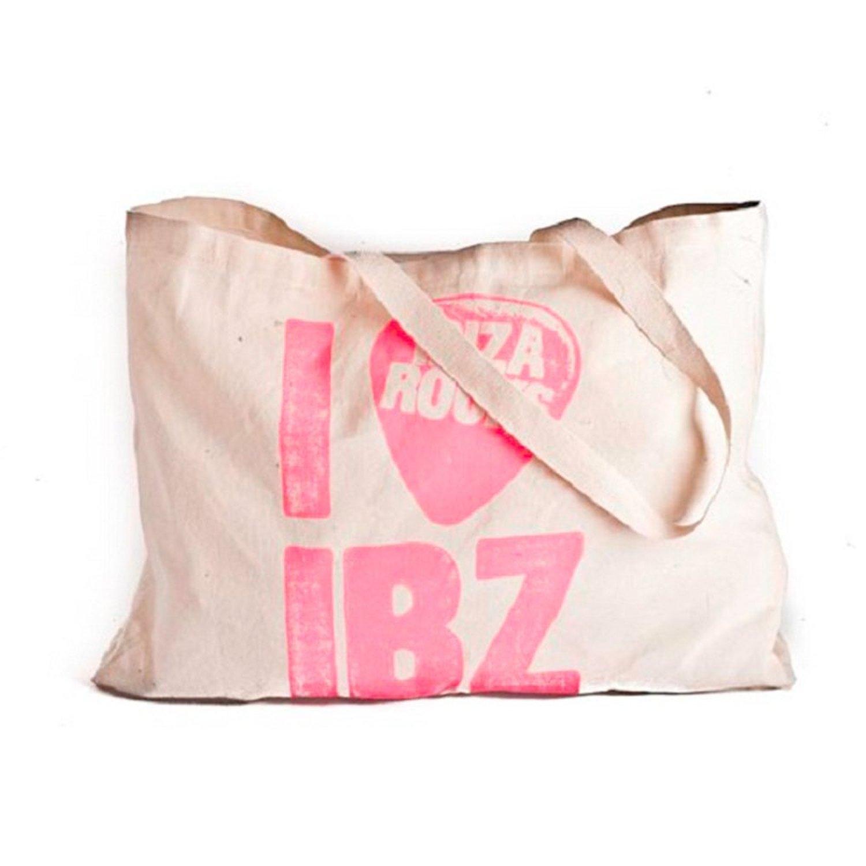 Ibiza Rocks: Large Canvas Plectrum Tote Bag