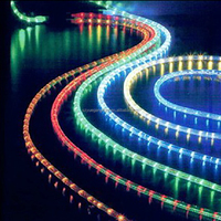 Wedding decoration 2 wire color changing led rope light rainbow light