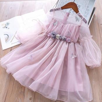 Spring Baby Flower Girl Tulle Dress Long Sleeve Lace Flower Girl Frock Butterfly Fancy Dress Kids Clothes Wholesale Buy New Model Girl Dressgirls