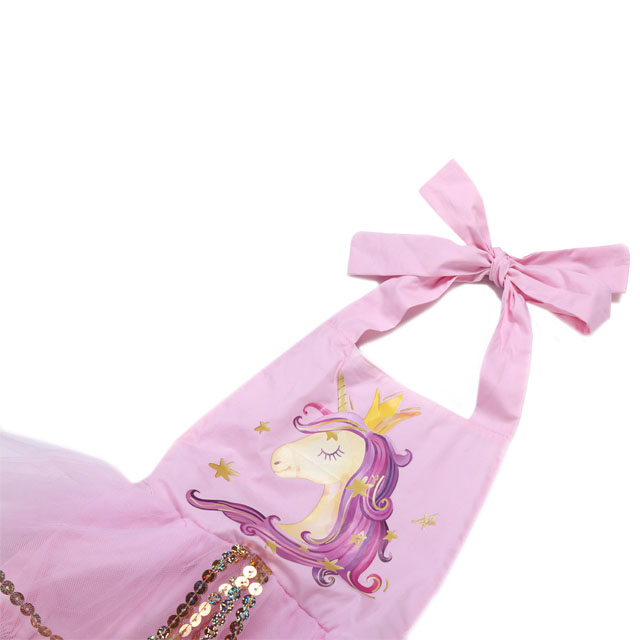 High quality vintage baby girl unicorn tutu romper sequin baby clothing romper