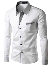 Free Shipping 2012 New Mens Shirts Casual Slim Fit Stylish Hot Dress Shirts Color:White,Black,Red,Navy blue Size:M-L-XL-XXL