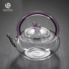 QIAOQI High Borosilicate Glass Teapot ,Glass Teakettles Stovetop Safe 650ml