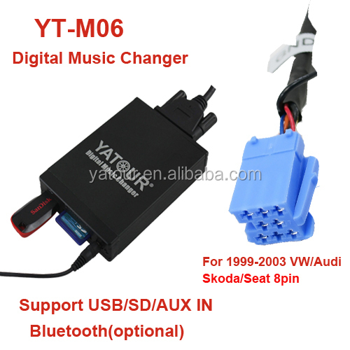 Auto MP3 Player>Car radio USB/SD/AUX IN/Bluetooth interfaces for VW Jetta/Passat/Polo/Golf Audi Skoda Seat
