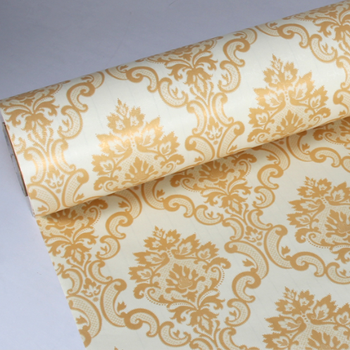 2017 Waterproof Yellow Color Damask Wallpaper And Stickers Self Adhesive Embossed Flower Bedroom Home Decoration