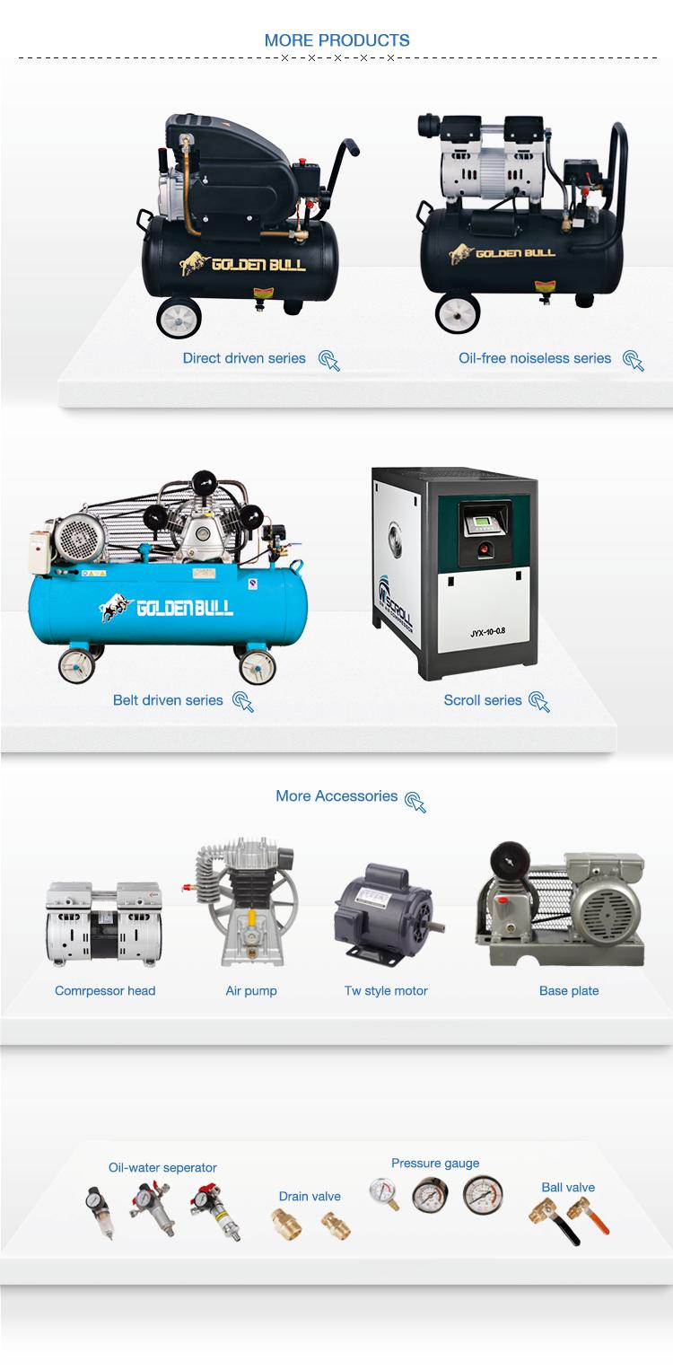 Eerste gebruikt direct drive draagbare kleine mini luchtcompressor 220 v
