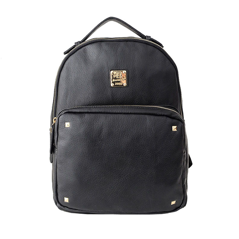 bef935046ea7 Get Quotations · Free shipping Korean fashion Women washed leather backpack  Black color Ladies Travel backpack laptop bag shoulder