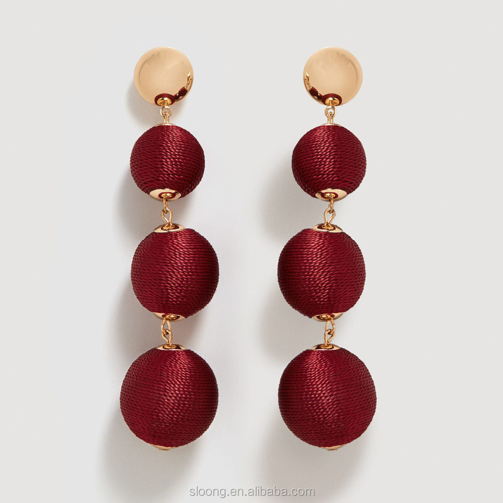 design ore co tassel mustard collections silk earrings
