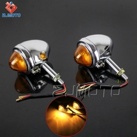 Factory Price ZJMOTO Chrome Steel Bullet Style Motorcycle LED Indicators For KS750 K750