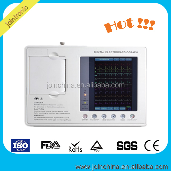 Portable 12 leads EKG portable holter ecg machine Best Price of electrocardiografo and lbbb ecg manufacturer