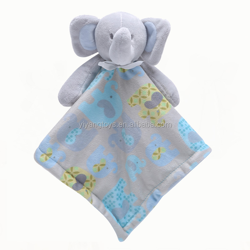 Amazon best Baby Infant Animal Soothe Appease Towel Soft Plush Comforting Toy Towel Soothing Towel Baby Plush Toys