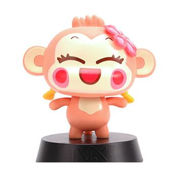 Super Sevimli Vinil Maymun Bobble Kafa Koleksiyonu Oyuncak Kafa
