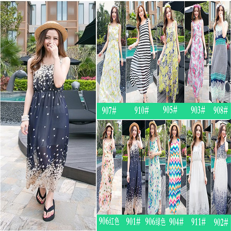 dresses goth picture more detailed picture about summer dress 2015 women print chiffon evening. Black Bedroom Furniture Sets. Home Design Ideas