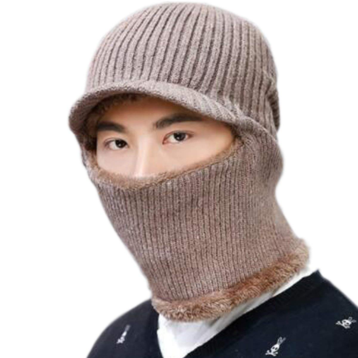 f9eb5ac1bddfc Get Quotations · JOYEBUY Warm Knitted Balaclava Beanie Hat Windproof Ski  Face Mask Winter Hats