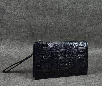4fce7d90fe0 Real crocodile skin clutch bag with wrist strap designer leather clutch  luxurylife