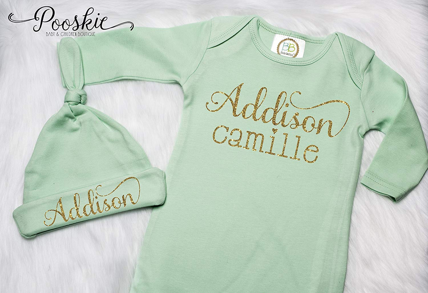 0b2e678d210 Buy Personalized Baby Girl Gown and Hat