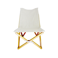 Tianye Outdoor furnitures collapsible lawn foldable bamboo chair leisure folding garden relaxing white wooden chair