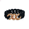 2018 Fashion Mulity Colors Anti Radiation Stretch Link Elastic Silicone Chain Bracelet
