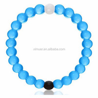 Hottest selling colorful beaded bracelet silicon bracelet